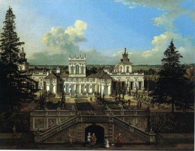 Bernardo Bellotto, Il palazzo di Wilanów dal parco olio su tela Varsavia, Castello reale