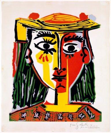 Pablo Picasso, Busto de mujer con sombrero, 1962, 64 x 53 cm, Puebra de artista Barcelona, Museu Picasso ©Succession Picasso, by SIAE 2011