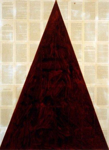 Tim Rollins + K O S, I See the Promised Land – Emmanuel Carvajal (after the Rev. Dr. Martin Luther King Jr.), 2000, cm 157,5 x115, Courtesy Collezione Morra Greco, Napoli