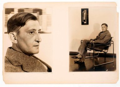 Photocollage di Josef Albers composto da due ritratti eseguiti da Otto Umbehr (Umbo), 1928, 29,5 x 41,8 cm, Josef & Anni Albers Foundation, Bethany (CT)