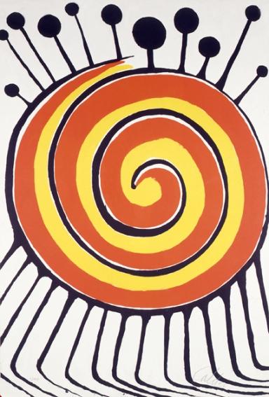 Alexander Calder, Spirale millepiedi, 1972 84 x 56,6 cm Litografia su carta - CLIC X INGRANDIRE