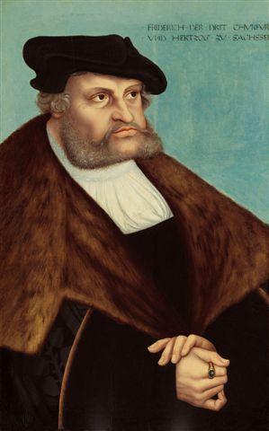 Cranach Lukas , L'elettore Federico il Saggio, tavola 80 x 49 cm