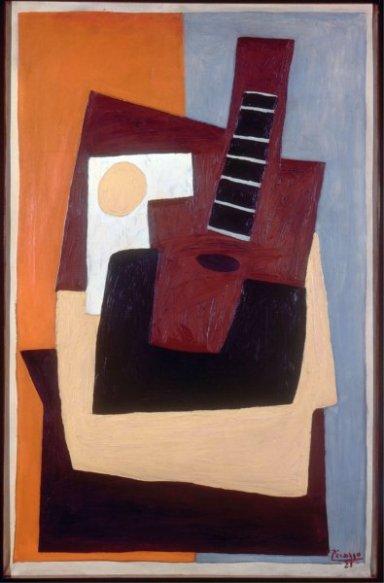 Pablo Picasso, Nature morte à la guitare, 1921, Olio su tela Parigi, Musée national d'Art moderne - Centre Georges Pompidou © Collection Centre Pompidou, Dist. RMN / Jacqueline Hyde © Succession Picasso, by SIAE 2011