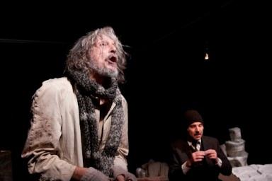Il Guardiano di Pinter regia Lorenzo Loris da sx Gigio Alberti Mario Sala FOTO Agneza Dorkin
