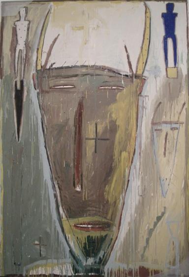 BROWN James 1983 'Untitled' enamel and oil on canvas Cm.244x168 L'ARIETEartecontemporanea Bologna