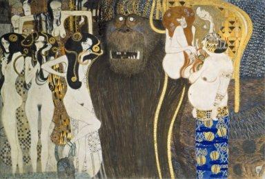 Gustav Klimt, Fregio di Beethoven, particolare