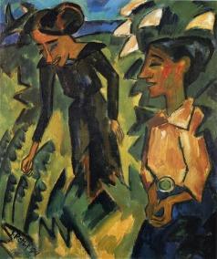 Karl Schmitt-Rottluff, Due donne, 1914 © Von der Heydt-Museum Wuppertal