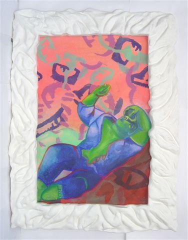 Sandro Chia, Senza titolo, 2006, tecnica mista su carta, cm 100 x 70
