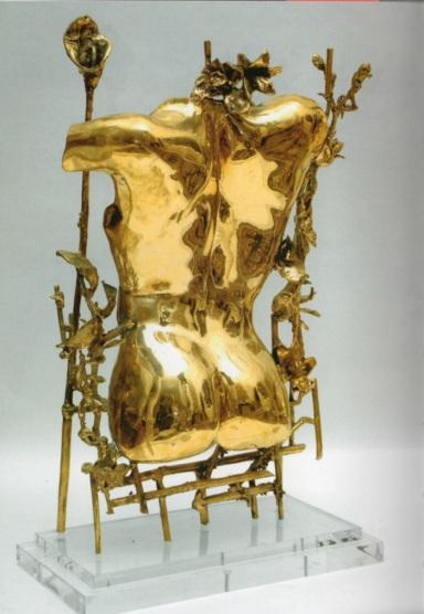 Lisa Sotilis, Adone, 2006, Bronzo lucidato, 100 x 60 cm