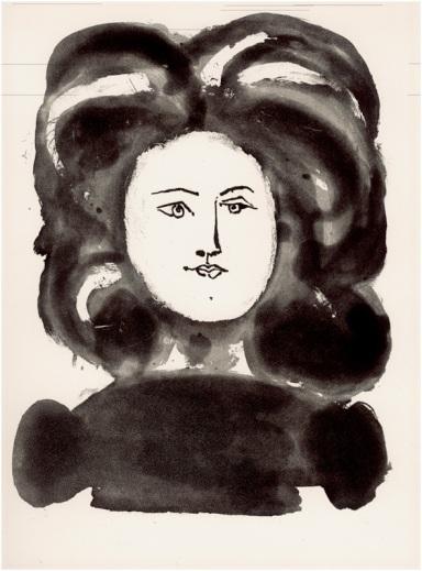 PABLO PICASSO, I Venti poemi di Gongora, 1948, acquaforte e acquatinta allo zucchero, cm 37,5 x 27,5, serie pubblicata da Roger Lacourière, Parigi