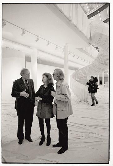 Reinhold Würth, Christo e Jeanne-Claude all'interno del Museo Würth