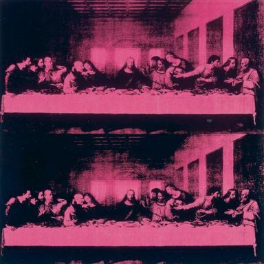 Andy Warhol, L'Ultima Cena The Last Supper, acrilico su tela, 100 x 100 cm, Gruppo Credito Valtellinese, a Palazzo Magnani, Reggio Emilia