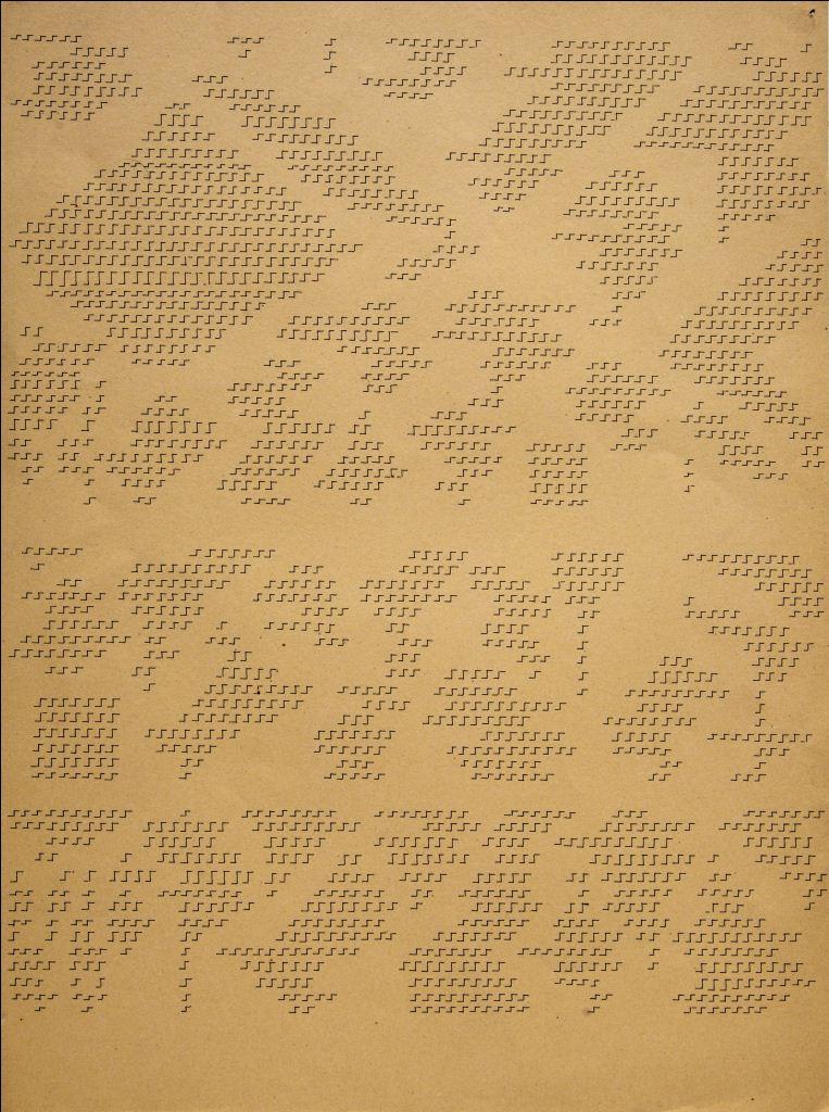Dadamaino, gli anni '70, Galleria Cortina, L'alfabeto della mente_Lettera 11_1979_cm50x34,5_china su cartoncino