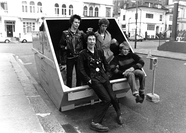 Janette Beckman-Sex Pistols Hyde Park 1977