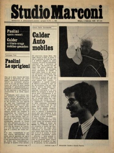 Studio Marconi, Giornalino n 3 e 4, February 5, 1976, Fondazione Marconi