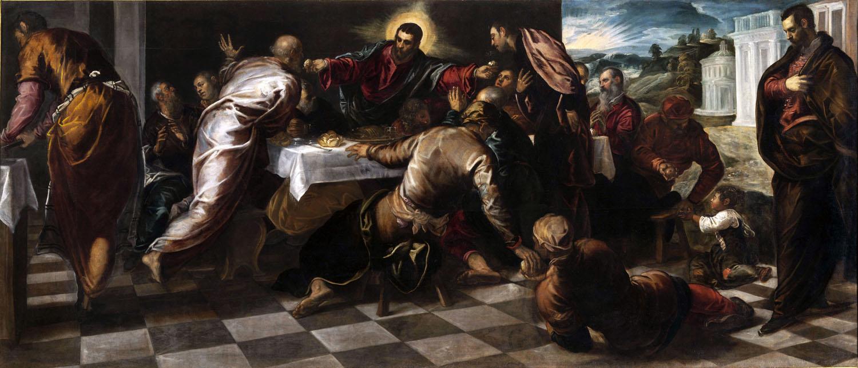 TINTORETTO MUSEO DIOCESIANO, Jacopo Robusti, detto Tintoretto, Ultima Cena 1574-75, Olio su tela, 228 x 535 cm Venezia, Chiesa di San Polo