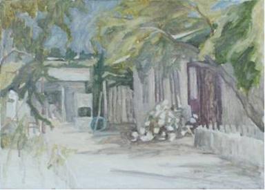 """Valeriu PALADI, """"Cortile"""", 2009, olio su tela, 80x100 cm"""
