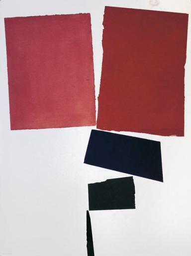 ITALO VALENTI al Museo della Permanente, Fiore rosso, 1973 - Milano arte e cultura