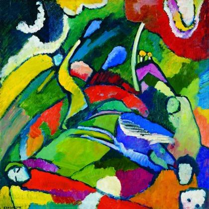 Wassily Kandinsky, Deux cavaliers et un personnage étendu, 1909-1910, Fondation Pierre Gianadda, Martigny, mostre vicino a Milano, arte expo