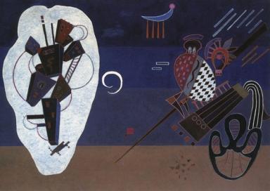 Wassily Kandinsky, Isolation, 1944, olio su tavola, cm 42x58, collezione privata