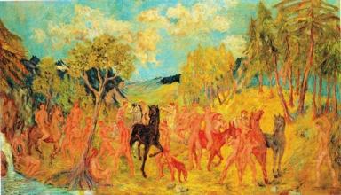 Aligi SASSU, 1935, Gli Argonauti in Colchide, cm 85x145, coll Alfredo Paglione, Palazzo de' Mayo, Fondazione Carichieti