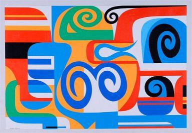 Nadir Afonso, Horus, 1953, Óleo sobre tela, cm 95,5 x 135,5, Museo Carlo Bilotti, Roma, Milano arte expo