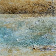 Virgilio Patarini, Mare-Miraggio-Deserto, t.m. su tela, cm 80x80, 2011, Milano arte expo, Prospettiva Post - Avanguardia