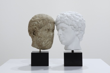 AMACI, Francesco Vezzoli, Self-portrait as Antinous Loving Emperor Hadrian, 2012, Milano Arte Expo