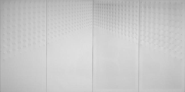 Enrico Castellani - Günther Uecker, Ca' Pesaro Galleria Internazionale d'Arte Moderna, Milano Arte Expo, Superficie bianca1968