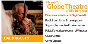 Milano expo arte e teatro, Giorgio Albertazzi in GIULIO CESARE, Silvano Toti Globe Theatre