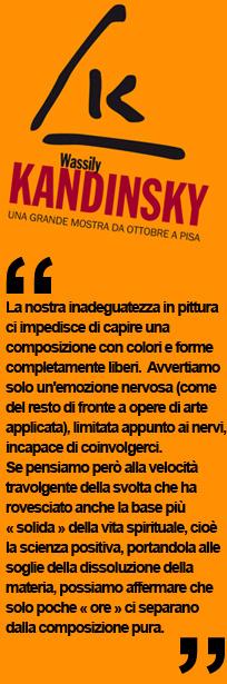 Arte contemporanea, Kandinsky, mostra a Palazzo Blu di Pisa