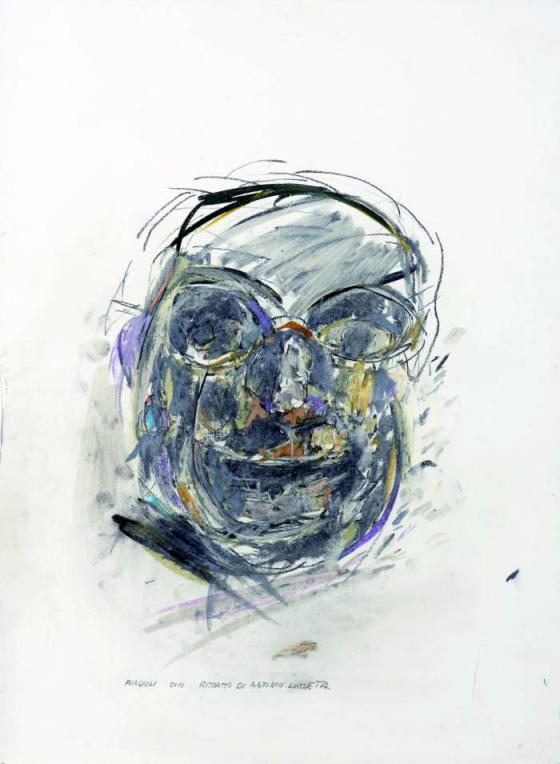 Attilio Forgioli, Antonio Lucchetta, 2011, pastello su carta, 70x50 cm