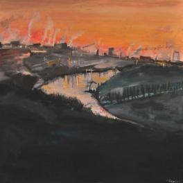 Carmine Ciccarini, CITTA' INDUSTRIALE DEL CONNECTICUT, 2011, mostra Chiostro del Bramante Roma, Milano Arte Expo