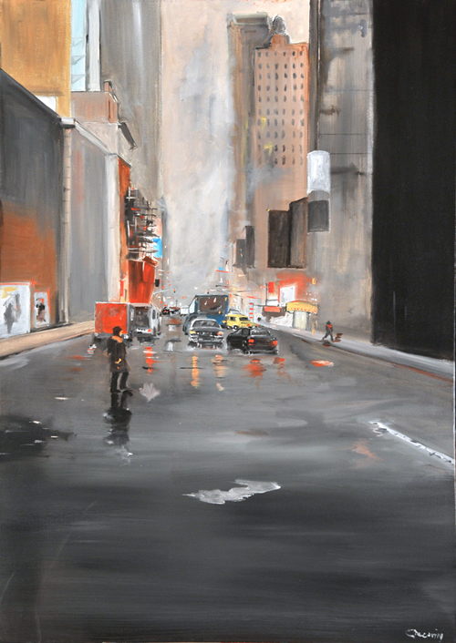 Carmine Ciccarini, NEW YORK LA SOLITUDINE DELLA METROPOLI, 2012, mostra Chiostro del Bramante Roma, Milano Arte Expo