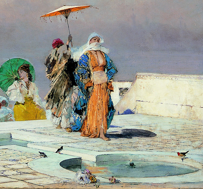 Domenico Morelli,  La sultana che torna dal bagno 1877-1883 ca_Particolare_Courtesy Arch. fotografico Cornèr Banca SA, Lugano