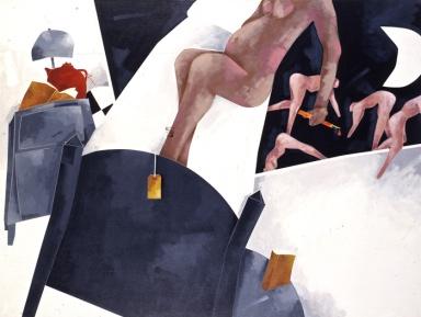Emilio Tadini, La fauna della notte, 1986, acrilici su tela, 150x200 cm