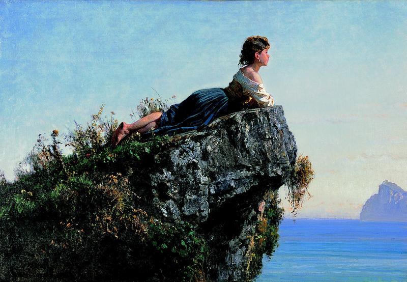 F. Palizzi Fanciulla sulla roccia a Sorrento 1871_Courtesy Arch. Cornèr Banca SA Lugano_med
