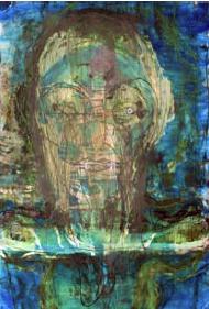 Huma Bhabha, Untitled, 2012, ichiostro su carta forografica a colori, cm 30,5 x 21