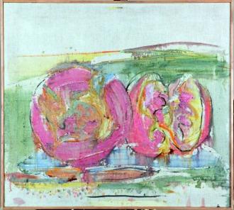 Milano Arte, Attilio Forgioli, Frutti, 2011, olio su tela, 90x100 cm