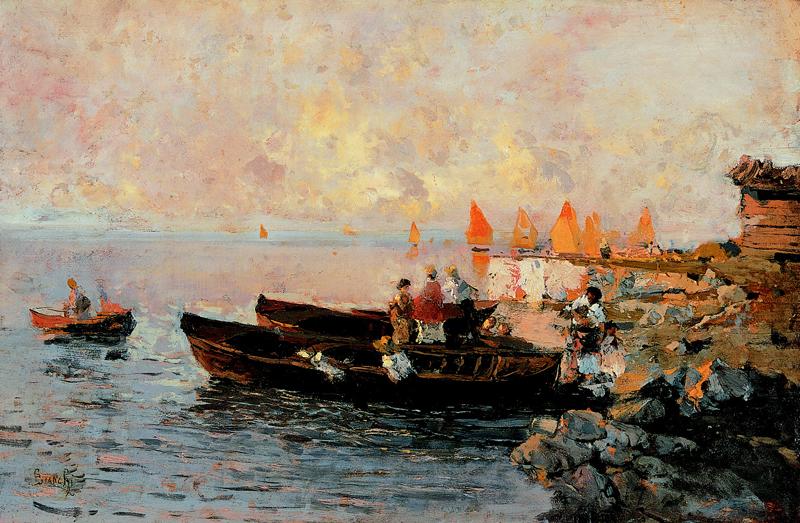 Mosè Bianchi, Laguna sul tramonto 1893 circa_Courtesy Arch. fotografico Cornèr Banca SA, Lugano