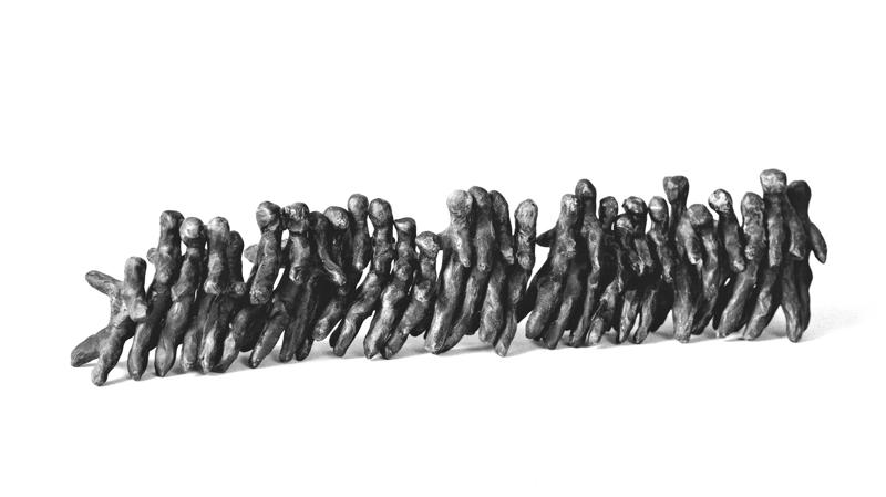 Mostre a Milano, MUSEO DIOCESANO DI MILANO, ALBERTO DE BRAUD Fine del gioco, Follia umana,1987, terracotta,90x10x8 cm