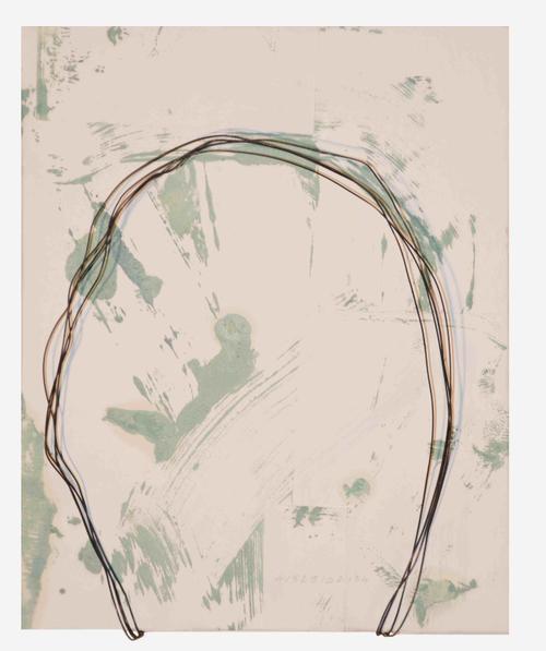 Studio Visconti Milano arte Maurizio Pellegrin, Dirty painting C, 2011, Tecnica mista su carta applicata su tela, fil di ferro, Dimensioni variabili