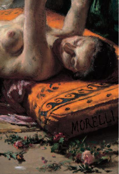 Villa dei Cedri Bellinzona - Domenico Morelli, Bagno Pompeiano, particolare, 1861, olio su tela centinata, cm 134,4 x 102,5