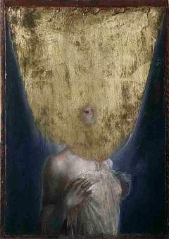 AGOSTINO ARRIVABENE THEOIN, First Gallery Roma, dis-velata epopteia,2012,olio su legno antico cm46,5x32,5
