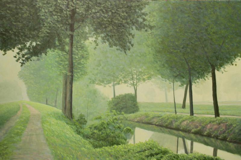 Enterprise Hotel Milano, Mario Corrieri, Sentiero nel verde, olio su tela cm 150x100, anno 2012