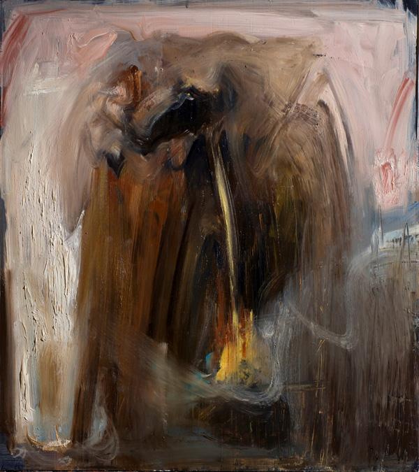First Gallery Roma, AGOSTINO ARRIVABENE THEOIN, Studio per Theoin III-_  2012_ olio su cartone cm 57 x 50