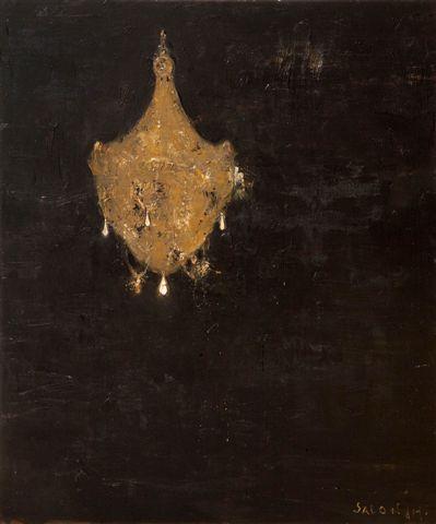 Galleria Mucciaccia Roma, Piero Pizzi Cannella, Salon de Musique, 2012, tecnica mista su tela, cm 120 x 100