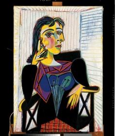 PABLO PICASSO, Portrait de Dora Maar, 1937, Olio su tela, cm 92 x 65, Palazzo Reale