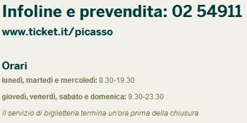 Picasso Milano biglietti e prenotazioni