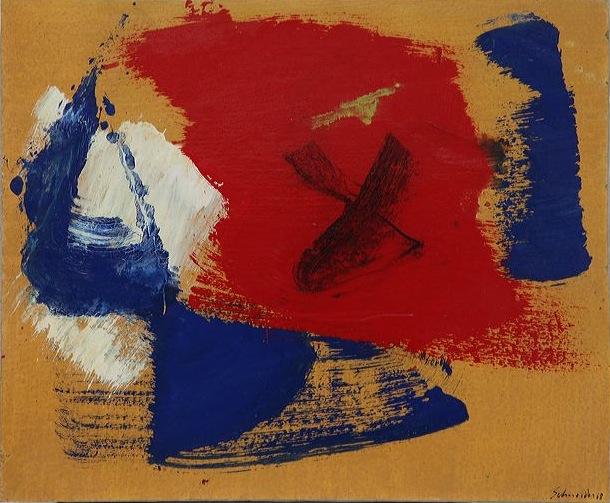 Milano mostre, Gérard Schneider, OPUS 5 Y 1968 olio su c. intelata